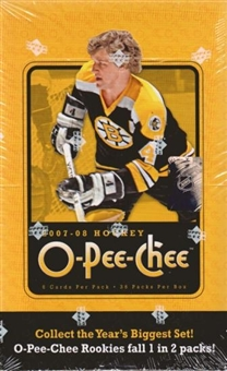 2007/08 Upper Deck O-Pee-Chee Hockey Hobby Box