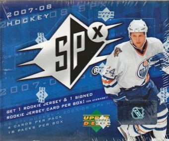 2007/08 Upper Deck SPx Hockey Hobby Box