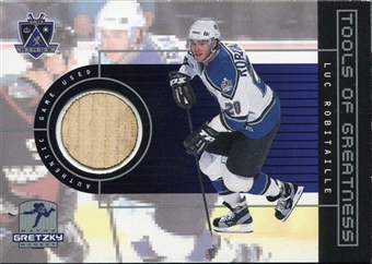 1999/00 Upper Deck Wayne Gretzky Hockey Tools of Greatness #TGLR Luc Robitaille