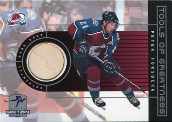 1999/00 Upper Deck Wayne Gretzky Hockey Tools of Greatness #TGPF Peter Forsberg