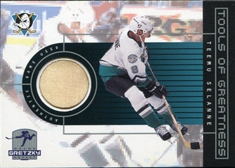 1999/00 Upper Deck Wayne Gretzky Hockey Tools of Greatness #TGTS Teemu Selanne