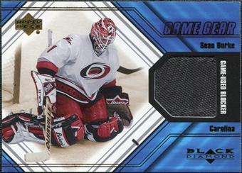 2000/01 Upper Deck Black Diamond Game Gear #BSB Sean Burke Blocker