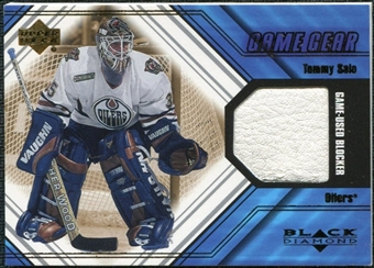 2000/01 Upper Deck Black Diamond Game Gear #BTS Tommy Salo Blocker
