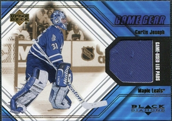 2000/01 Upper Deck Black Diamond Game Gear #LCJ Curtis Joseph Pad