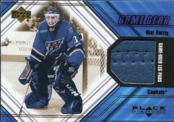 2000/01 Upper Deck Black Diamond Game Gear #LOK Olaf Kolzig Pad