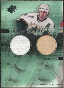 2000/01 Upper Deck SPx Winning Materials #MM Mike Modano SP Jersey Stick