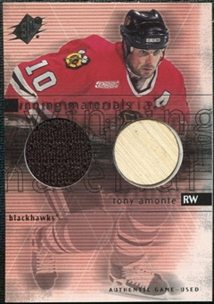 2000/01 Upper Deck SPx Winning Materials #TO Tony Amonte Jersey Stick
