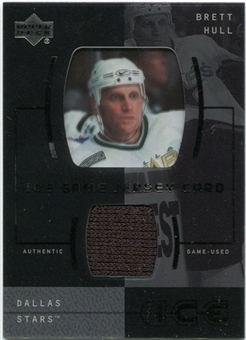 2000/01 Upper Deck Ice Game Jerseys #JCBH Brett Hull