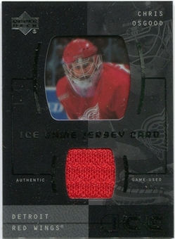 2000/01 Upper Deck Ice Game Jerseys #JCCO Chris Osgood