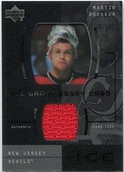 2000/01 Upper Deck Ice Game Jerseys #JCMB Martin Brodeur