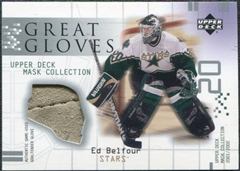 2001/02 Upper Deck UD Mask Collection Gloves #GGEB Ed Belfour