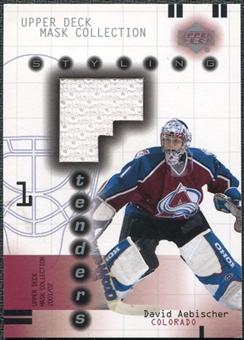 2001/02 Upper Deck UD Mask Collection Goalie Jerseys #SYDA David Aebischer ST