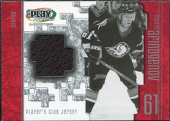 2001/02 Upper Deck UD Playmakers Jerseys #JMA Maxim Afinogenov