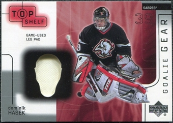 2001/02 Upper Deck UD Top Shelf Goalie Gear #LPDH Dominik Hasek Pad