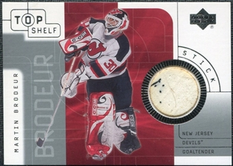 2001/02 Upper Deck UD Top Shelf Sticks #SMB Martin Brodeur