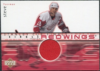2001/02 Upper Deck Game Jerseys Series II #FJSY Steve Yzerman
