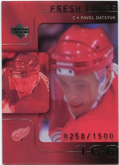 2001/02 Upper Deck Ice #53 Pavel Datsyuk RC /1500