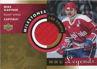 2001/02 Upper Deck Legends Milestones #MMG Mike Gartner