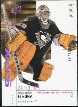 2002/03 Upper Deck SPx Rookie Redemption #R222 Marc-Andre Fleury /500