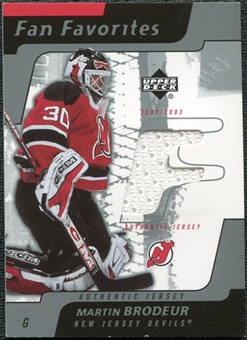 2002/03 Upper Deck Fan Favorites #MB Martin Brodeur