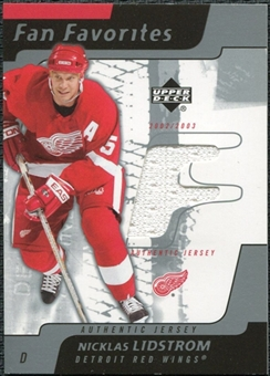2002/03 Upper Deck Fan Favorites #NL Nicklas Lidstrom