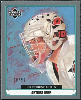 2002/03 Upper Deck UD Artistic Impressions Retrospectives Silver #R14 Arturs Irbe /99