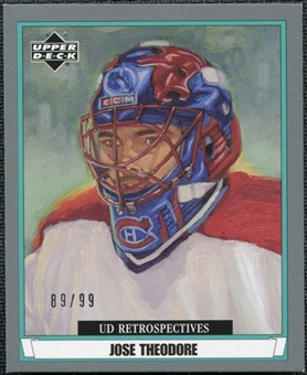 2002/03 Upper Deck UD Artistic Impressions Retrospectives Silver #R49 Jose Theodore /99