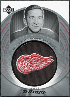 2003/04 Upper Deck Trilogy #131 Ted Lindsay Crest Of Honor COH Patch