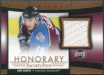2005/06 Upper Deck Trilogy Honorary Swatches #HSJS Joe Sakic
