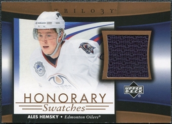 2005/06 Upper Deck Trilogy Honorary Swatches #HSAH Ales Hemsky