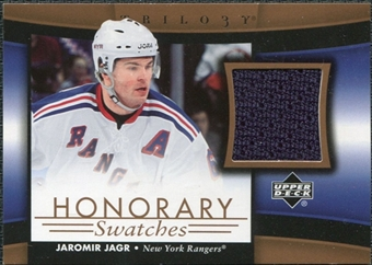 2005/06 Upper Deck Trilogy Honorary Swatches #HSJJ Jaromir Jagr