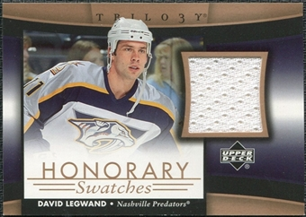 2005/06 Upper Deck Trilogy Honorary Swatches #HSDL David Legwand