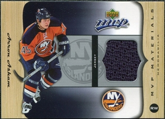 2005/06 Upper Deck MVP Materials #MAA Aaron Asham