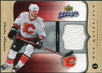 2005/06 Upper Deck MVP Materials #MCS Chris Simon