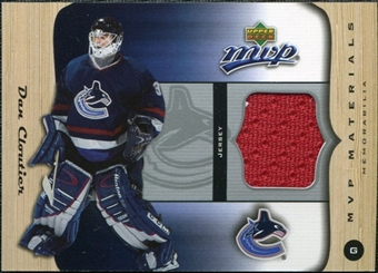 2005/06 Upper Deck MVP Materials #MDC Dan Cloutier