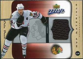2005/06 Upper Deck MVP Materials #MED Eric Daze