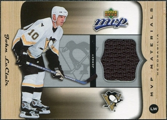 2005/06 Upper Deck MVP Materials #MJL John LeClair