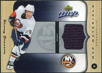2005/06 Upper Deck MVP Materials #MKJ Kenny Jonsson