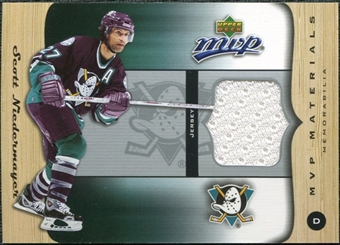2005/06 Upper Deck MVP Materials #MSN Scott Niedermayer