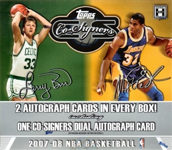 2007/08 Topps Co-Signers Basketball Hobby Box