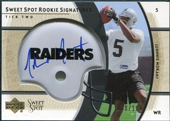 2004 Upper Deck Sweet Spot Gold Rookie Autographs #242 Johnnie Morant Autograph /100