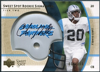 2004 Upper Deck Sweet Spot Gold Rookie Autographs #253 Chris Gamble Autograph /100