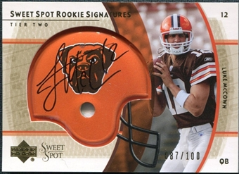 2004 Upper Deck Sweet Spot Gold Rookie Autographs #273 Luke McCown Autograph /100