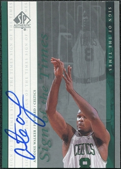 1999/00 Upper Deck SP Authentic Sign of the Times #AW Antoine Walker Autograph