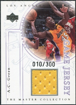 2000 Upper Deck Lakers Master Collection Game Jerseys #AGJ A.C. Green /300