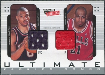 2000/01 Upper Deck Ultimate Victory Ultimate Fabrics #UFC4 Kenyon Martin Marcus Fizer