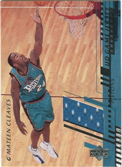 2000/01 Upper Deck Game Jerseys 2 #MCC Mateen Cleaves