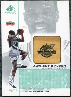 2000/01 Upper Deck SP Game Floor Authentic Floor #DV David Robinson