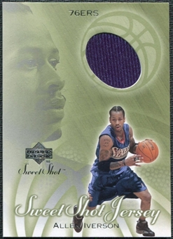 2001/02 Upper Deck Sweet Shot Game Jerseys #AI Allen Iverson