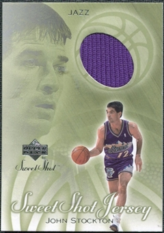 2001/02 Upper Deck Sweet Shot Game Jerseys #ST John Stockton
